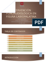 Intervención Fonoaudiológica en Fisura Labiopalatina