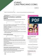 Partições Primárias e Partições Lógicas (2)