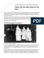 10 Facts - Ku Klux Klan - Early 20th Century
