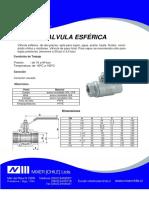 Ficha MX-03 Valvula de Bola 2 Cuerpos