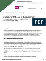English for Officers & Businessmen __ Bdjobstraining