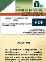 4.2.1 CLASIFACIACIÓN Y PARTES DE CONSTITUTIVAS DE LAS TURBINA DE GAS.pptx