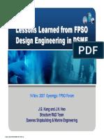 0711 DSME Lessons Learned FPSO JIP Public Rev.1