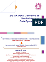 De la CIPD al Consenso de Montevideo y su Guía Operacional