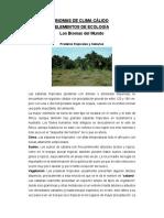BIOMAS CLIMA CALIDO