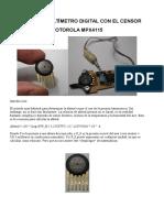 Barómetro y Altímetro Digital
