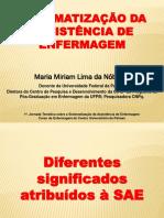 SAE e Processo de Enfermagem Palmas Abril2014 1