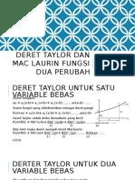 Kuliah 5 Deret Taylor Dan Mac Laurin Fungsi Dua Perubah