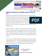Planta Centro generará 1.200 MW a partir de marzo de 2011