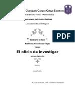 El Oficio de Investigar