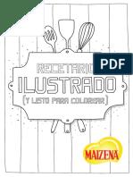 Maizena - Recetario Ilustrado y Para Colorear