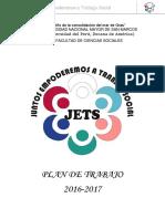 Jets . Plan de Trabajo 2016 2017