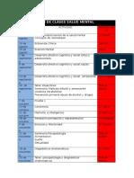 Plan de Clases Salud Mental 2013