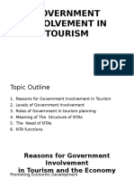 The Involvement Og Government in Tourism