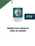 Instructivo Completo Trabajo Final de Grado 2016