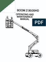 GENIE MANUAL OPER Y MANT Z30/20HD