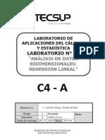 Laboratorio 14 Datos Bidimensionales Regresion Lineal
