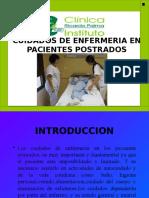 cuidado de enfermería en pacientes postrados