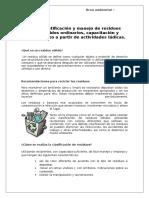 CHARLA - Identificación y Manejo de Residuos Sólidos Ordinarios