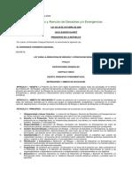 Bolivia - Ley Nº 2140 Del 25 de Octubre de 2000