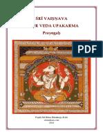 Vaisnava Yajur Veda Upakarma