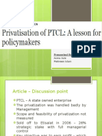 PTCL Privatization