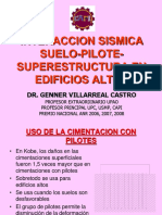 Interaccion sismica suelo-pilote-superestructura en edificios altos