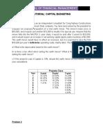 Tutorial Problems_capital Budgeting