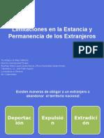 Limitaciones Para La Permanencia y Estancia de Extranjeros