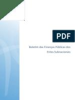 Boletim de Financas Públicas Dos Entes Subnacionais