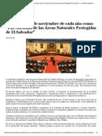Día Nacional de Las ANP de El Salvador—Asamblea Legislativa