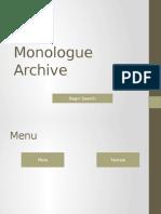 Monologue Archive