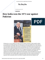 How India Won the 1971 War Against Pakistan