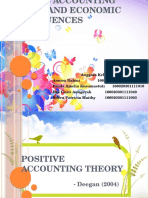 Positive Accounting Theory and Economics Consequences