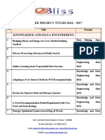 EBliss IEEE Project TitlesList 2016-2017 New
