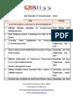 EBliss Project TitlesList 2015 New