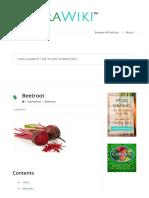 Beetroot – NutraWiki