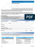 Sportsbet ID by Certified Document Form