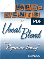 Gerald Eskelin - Components of Vocal Blend Plus Expressive Tuning
