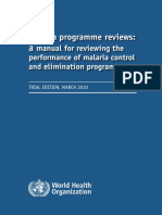 Whom Pr Malaria Program Performance Manual