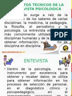 Diapo Elementos Tecnicos Para La Entrevista Psicol OCT 23