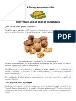 Alimentos Ricos en Ácidos Grasos Esenciales