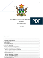 Zimbabwe - Ag Policy Framework 2012 to 2032 ExecSummary-MoA-2012