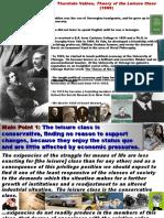 Main Points Thorstein Veblen