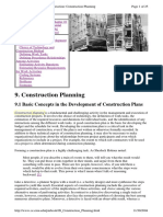 Construction Planning Review