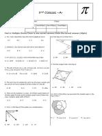 Sets and Angles Exam