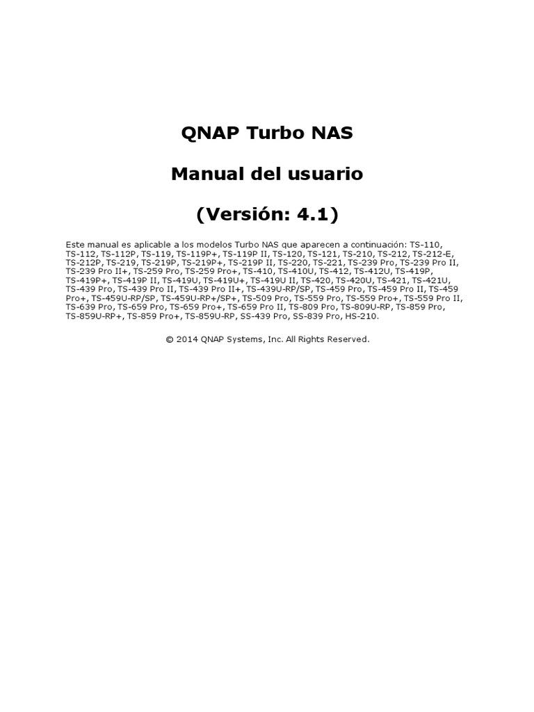 QTS User Manual Home Esp 4.1