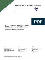 Standard Bnc Female Data Sheet
