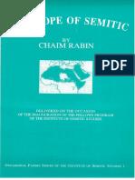 Rabin - The Scope of Semitic (1986)
