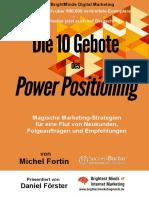 Fortin, Michel - Die 10 Gebote Des Power Positioning - Mit Einem Vorwort Von Daniel Förster